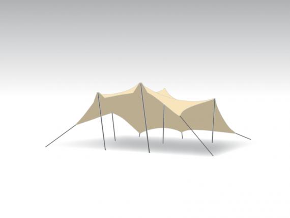 stretchtent 5×6,5m